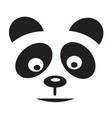 panda icon vector image vector image