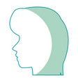 profile head woman human female avatar vector image vector image