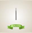 realistic eye paintbrush element vector image vector image