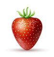 red strawberry icon vector image vector image