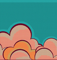 Retro clouds poster background vector image