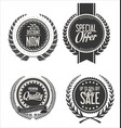 retro vintage blue labels collection 2 vector image vector image