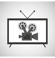 screen tv movie retro camera film vector image