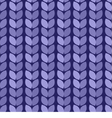 Seamless background Knitted blue surface vector image