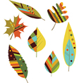 Seamless colourful autumn leaves vector image