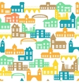 Seamless pattern with houses vector image vector image