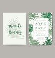 set of wedding card template background for vector image vector image