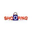 shopping logo type design symbol vector image vector image