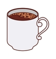 silhouette big cup of coffee vector image vector image