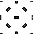 small wallet pattern seamless black vector image vector image