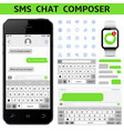 sms chat composer vector image vector image