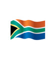 south africa flag vector image vector image