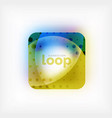 square loop business symbol geometric icon vector image