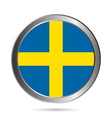 Sweden flag button vector image vector image