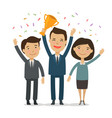 teamwork awarding ceremony success achievement vector image