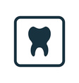 tooth icon Rounded squares button vector image vector image