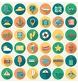 Travel Icons Set Flat design style vector image vector image