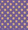 ultra violet seamless pattern with flowers and vector image vector image