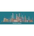 Urbanization Industrial vector image vector image