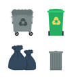various garbage containers vector image