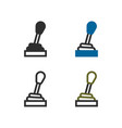 vehicle gear stick vector image vector image
