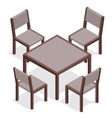 Wooden Table with chairs for cafes Modern table vector image vector image