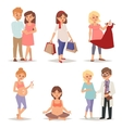 Young pregnant woman pregnancy female belly vector image