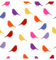 birds seamless baby background with colour birds vector image