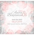 invitation to the wedding Abstract romantic rose vector image