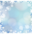 Abstract holiday Christmas blue light background vector image vector image
