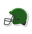 american football helmet isolated icon vector image vector image