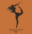 ancient greece girl carrying an amphora silhouette vector image vector image