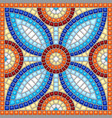 ancient mosaic ceramic tile pattern vector image vector image