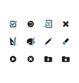 Application interface icons on white background vector image vector image