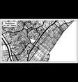 badalona spain city map in retro style outline map vector image vector image