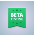 Beta testing badge vector image vector image