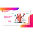 better health heart life test landing page vector image