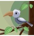 Blue bird on the tree vector image