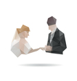 Bride and groom isolated on a white backgrounds vector image