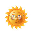 bright sun in eyesight glasses funny cartoon vector image vector image