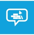 Building wall message icon vector image vector image