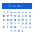 business and finance icon set with filled outline vector image
