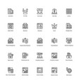 business and finance line icon 25 vector image vector image