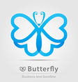 Butterfly business icon vector image