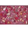 cartoon set of Nail salon theme objects vector image vector image
