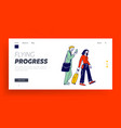 characters with luggage boarding on airplane vector image vector image