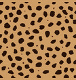 cheetah skin with stains as a seamless pattern vector image