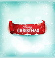christmas parchment scroll on snow background vector image vector image