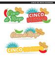 cinco de mayo banners vector image vector image