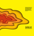 color paper cut background red and yellow layers vector image vector image